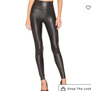 NWOT- Spanx Faux Leather Leggings